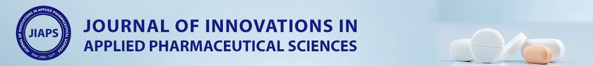 JOURNAL OF INNOVATIONS IN APPLIED PHARMACEUTICAL SCIENCES